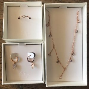 Chloe + Isabel Jewelry - Petits Bijoux Rose-Cut Hoops, Necklace & Ring